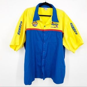 NASCAR Racing Sunoco Patches Embroidered Shirt 3XL